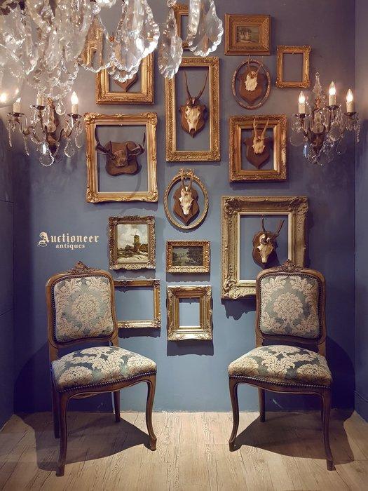 【拍賣師古董市集】歐洲古董1930年代法國路易十五單人椅(一對)