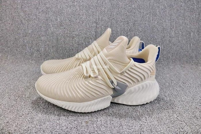 Adidas AlphaBounce Beyond 米黃 百搭 經典 休閒運動慢跑鞋 女鞋 B76039