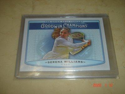 網球 Tennis Serena Williams 小威廉絲 2019 UD Goodwin Champions 球員卡