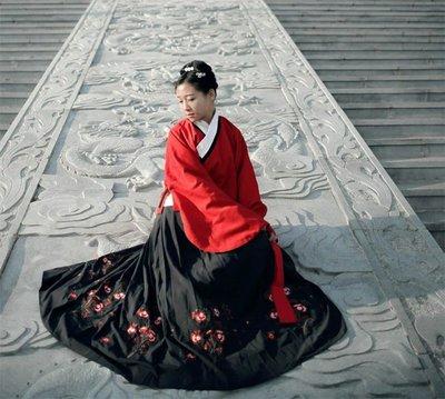 傳統漢服女明制交領襖裙雙層琵琶袖襖裙刺繡襖裙秋冬款