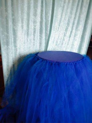 深藍紗裙組