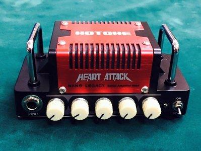 【大鼻子樂器】公司貨 Hotone Heart Attack 5瓦 迷你 電吉他音箱頭 美式破音 MesaBoogie