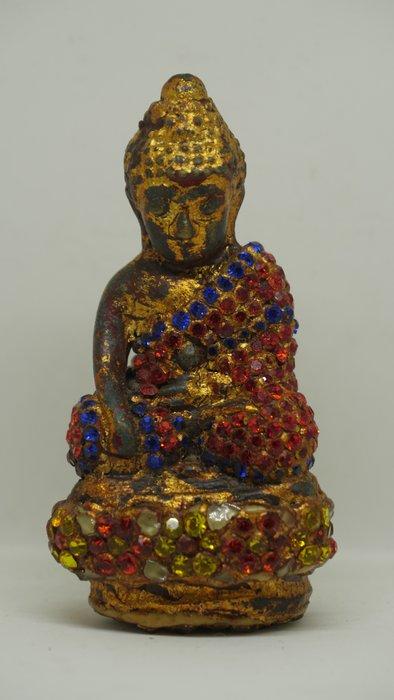 (希瓦利佛牌殿) 2401 藥師佛 玉佛寺 阿贊多頌經加持 供奉型 內有符珠搖有聲音 9x4.5x3.2cm