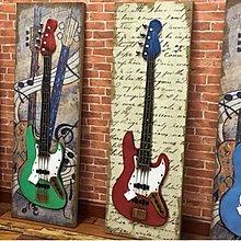 複古做舊創意吉他裝飾畫咖啡廳酒吧壁飾網咖KTV牆面裝飾品掛件(四款可選)
