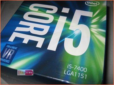 JULE 3C會社-Intel Core i5 7400 3G~3.5G/6M/拆封品/第七代/1151 CPU