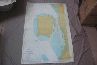 藍色小館46-2-DEPTHS IN METRES航海圖-APPROACHES TO PINAG HARBOUR