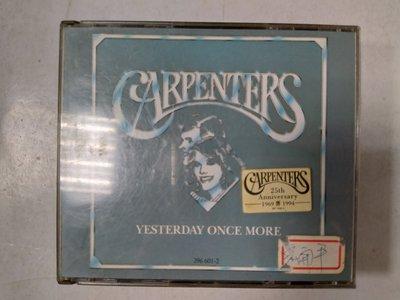 昀嫣音樂(CD69)  CARPENTERS YESTERDAY ONCE MORE *請注意只有一片* 保存如圖