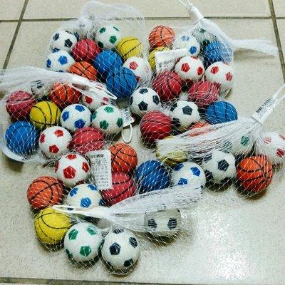 【樂達玩具】台灣製 10入裝 約3.8公分 彈力球 彈跳球 ( 足球 & 籃球 ) 綜合玩具 #9561