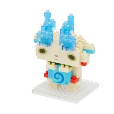 尼德斯Nydus~* 日本正版 妖怪手錶 吉胖貓 拳師貓 nanoblock 小積木 樂高 小石獅(白)