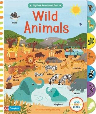 野生動物 英文 Wild Animals 紙板書 7種海底場景主題 親子互動探索啟蒙繪本