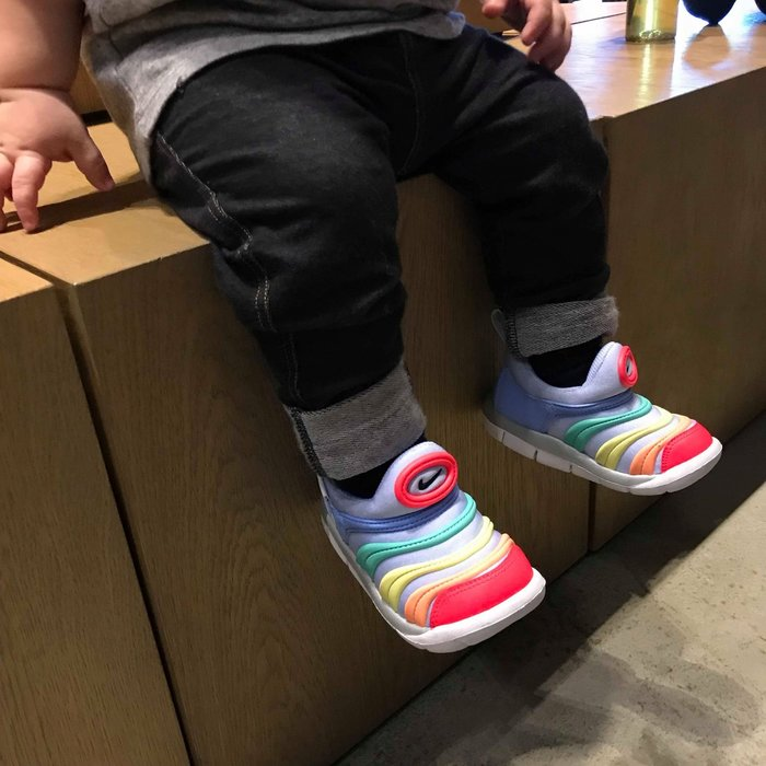 KS▸NIKE DYNAMO FREE TD 彩虹 熱帶魚 彩色 毛毛蟲 小童鞋 襪套 【343938-425】