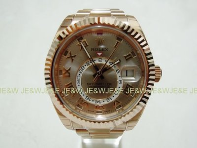 【JE&W歐洲精品】 Rolex 勞力士 SKY-DWELLER 326935 玫瑰金款 全新品