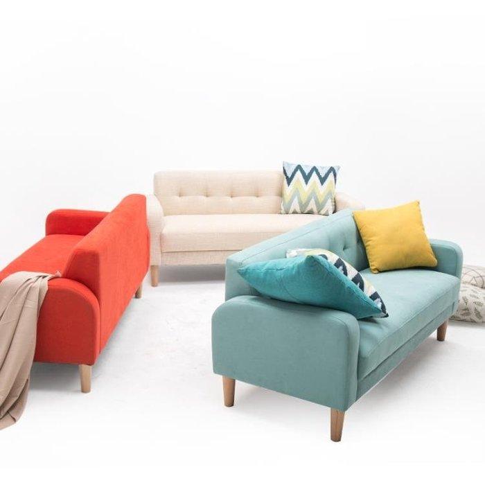 【瘋狂夏折扣】沙發小戶型北歐布藝雙人三人服裝店沙發現代簡約迷你日式單人沙發