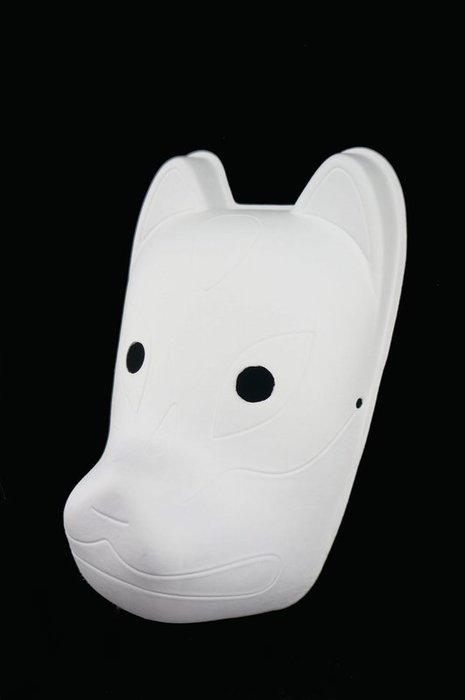 發光派對屋(西門中華店)@紙漿純白全臉狐狸貓面具(可自行彩繪)