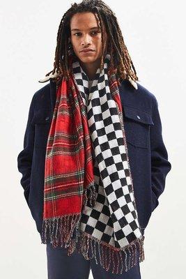 ☆ETW☆【一中店】 STUSSY DOUBLE FACED STADIUM BLANKE 格子 紅 披肩 圍巾 台中市