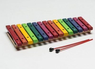 【華邑樂器53012-3】HAOSEN 豪聲 彩虹15音桌上小木琴-音筒色 (附琴槌 台灣製造 HXOS-15CN)