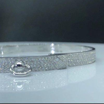 ✨💎設計訂製款18k金鑽石半鑽/滿鑽名牌小香愛瑪仕卡地亞鑽石手環💎✨