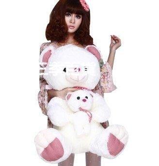 三季卡沙巴王子 母子熊毛絨玩具可愛抱抱熊布偶 大號泰迪熊布娃娃公仔❖838