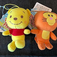 日本 Disney 景品 Winnie the Pooh 小熊維尼 and Tigger 跳跳虎 匙扣吊飾 一個 (保證日版)