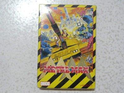【~嘟嘟電玩屋~】FC 日版卡帶 ~  METAL   MAX    坦克戰記   .... 書盒完整