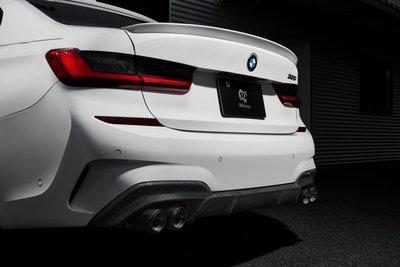 ✽顯閣商行✽日本 3D design BMW G20/G21碳纖維後下巴 後擾流 空力套件 改裝 四出 M40i