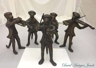 ((天堂鳥)) 銅雕猴子樂團