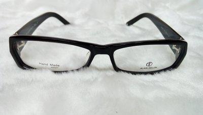 ALAIN DELON 斯文時尚日本手工復古雷朋黑色膠框光學鏡架