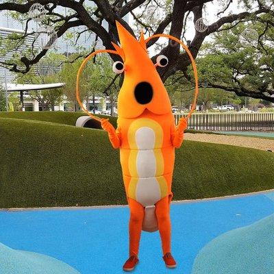 人偶服裝卡通人偶服裝龍蝦鯊魚海豚八爪魚海洋館行走布偶玩偶宣傳公仔衣服悠悠