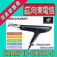 【向東-大同民生店】全新夏普 活髮吹風機 IB-GX9KT-B 智慧偵測恆溫設計 攜碼遠傳588學生案1元