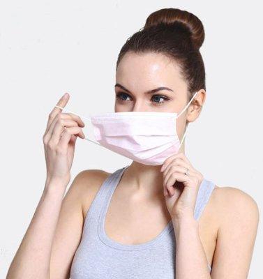 現貨一次性口罩,三層不織布防護口罩,每包50個150元