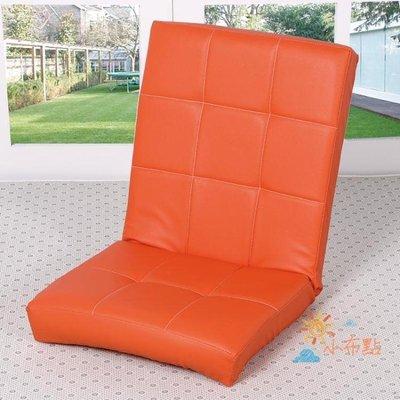 沙發床創意懶人沙發榻榻米單人折疊椅簡易靠椅飄窗椅懶人椅皮藝椅子家用WYAMSS