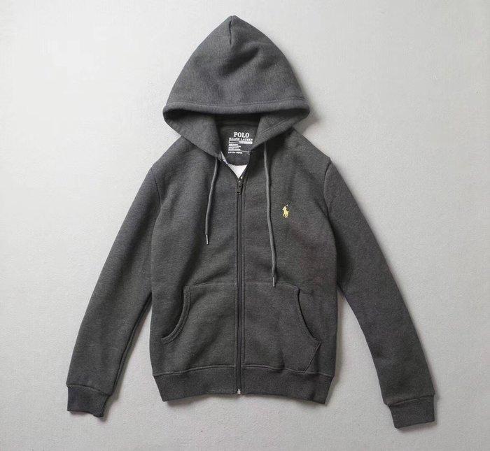 ☆COOKIE@RL 激似款☆2019秋季到貨-運動款內裡鋪棉連帽外套-無品牌!!只有深灰色