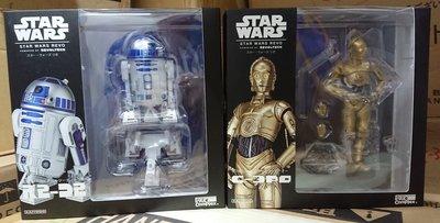 全新 Star Wars 星球大戰 C-3PO R2-D2 一對 Revoltech 海洋堂 山口式 Revo 003 004 可動 Figure 行貨