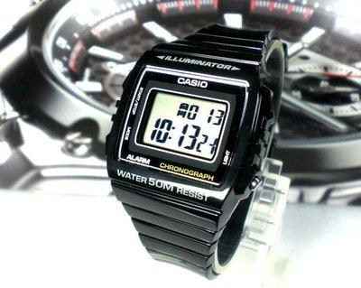 經緯度鐘錶 CASIO手錶 大字體 亮皮表帶 酷似G-SHOCK CASIO公司貨 【↘550】W-215H-1A 彰化縣