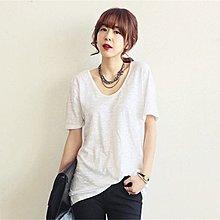 =EF依芙= 1599 芭芭菲詩 韓國 首爾時尚精品 東大門同步上新 簡約寬鬆純色T恤 S碼~XL碼