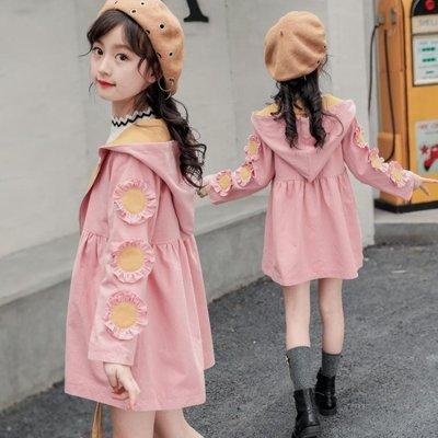 2019新款韓版女童春裝5外套7中大童9春秋6-15歲兒童10中長款8風衣
