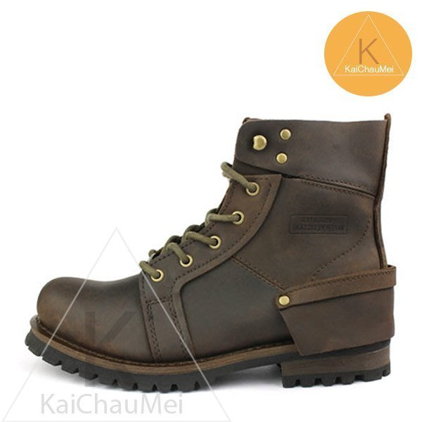 [凱喬美] GECKO 雷根大底 高筒 戰鬥飛行軍靴 咖啡 時尚都會都會雅痞時尚男孩窄身 Skechers 休閒/帆船