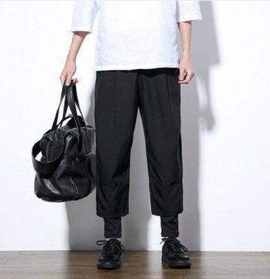 FINDSENSE韓國 假兩件 休閒寬褲 寬腿褲 加大尺碼 供應 腰圍大的也可以穿喔  預購7天+現貨