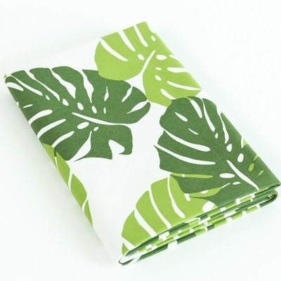 戀物星球 掛布純棉帆布布料田園風格綠葉抱枕桌布門簾窗簾面料加厚沙發布新