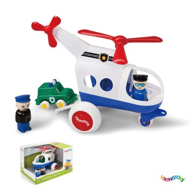 【晴晴百寶盒】瑞典進口 警用直升機  VIKINGTOYS 男孩最愛 車車控 禮物益智遊戲玩具高品質W207