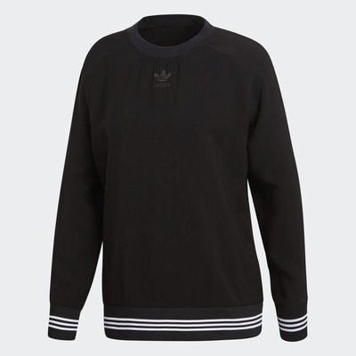 adidas Originals Sweatshirt CD6904 女款 黑色 大學T