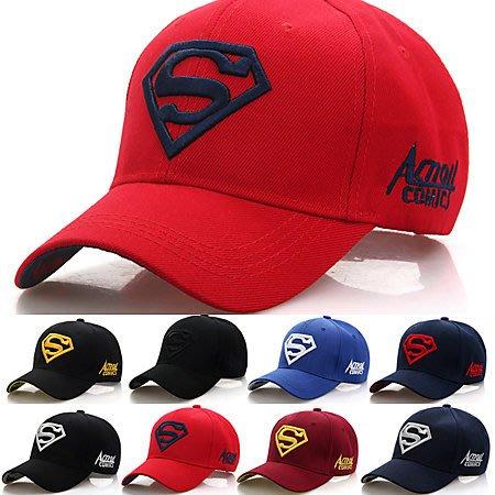 dc漫畫字母S超人LOGO刺繡棒球帽 鴨舌帽 防曬帽 8色【E297482】