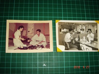 早期黑白照片《日本 酒館照片 二張合售》約1950年代 9*5.5cm【CS超聖文化讚】
