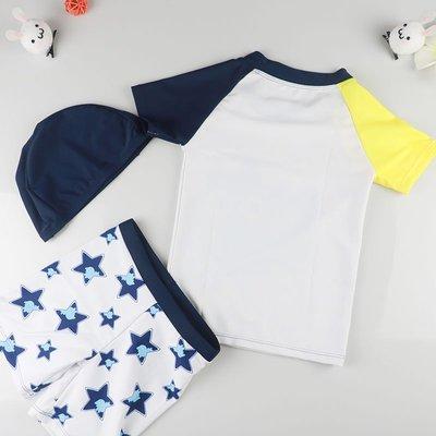 兒童泳衣韓國寶寶防曬速干分體泳衣套裝男孩男童小中大童溫泉泳褲