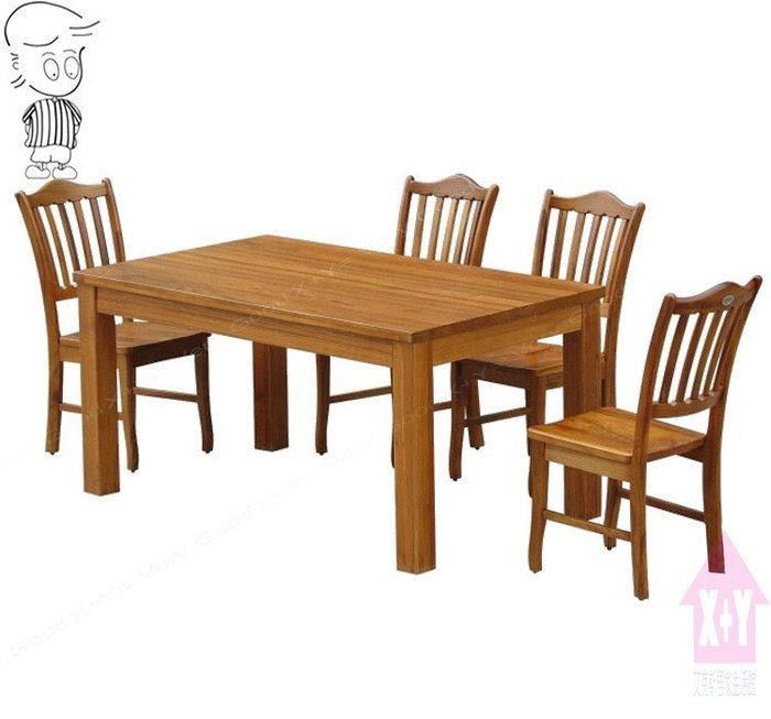 【X+Y時尚精品傢俱】原木餐桌椅系列-布蘭妮 緬甸柚木5尺長方餐桌.不含餐椅.可當會議桌.摩登家具