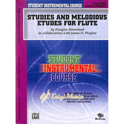 Kaiyi Music ♫Kaiyi Music♫Studies and Melodious Etudes for Flute,Level 3