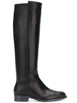 【限時折扣預購】正品STUART WEITZMAN HALFWAY黑色 小牛皮 長靴