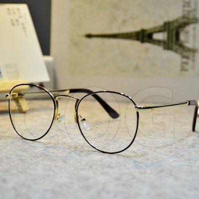 『COG』 g016 二件9折 潮流鏡架 超輕量 文青知性 韓劇女學生復古圓形眼鏡架 情侶款 美女小臉神器