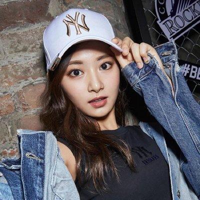 [免稅店代購] 現貨白色 MLB X TWICE 洋基隊棒球帽 子瑜同款 32CP50911