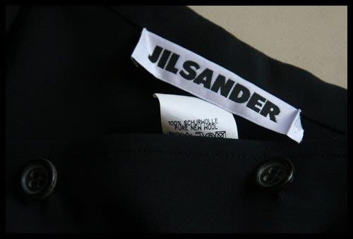 Boutique真品歐碼34 【JIL SANDER】極簡黑牛角扣處女羊西裝上衣(原價$53600)